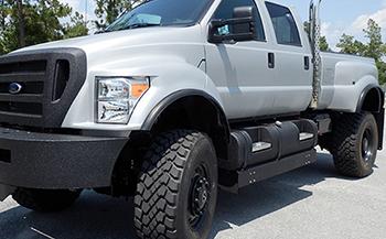 $6500 Exterior Color Change-Out- Satin Finish (6 Door) $6500 (Shown here as a 4-door) & Build It! SIX DOOR EXTREME SuperTruck | F650 Supertrucks
