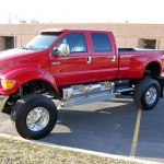 Red F650 Supertruck 4x4